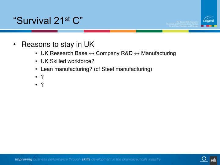 Survival 21 st c
