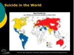 suicide in the world