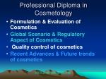 professional diploma in cosmetology