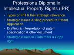 professional diploma in intellectual property rights ipr