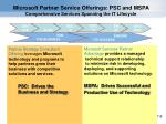 microsoft partner service offerings psc and mspa