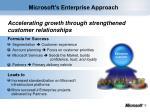 microsoft s enterprise approach