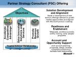 partner strategy consultant psc offering