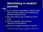 advertising in medical journals
