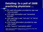 detailing in a poll of 2608 practicing physicians