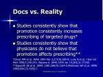 docs vs reality