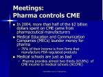 meetings pharma controls cme