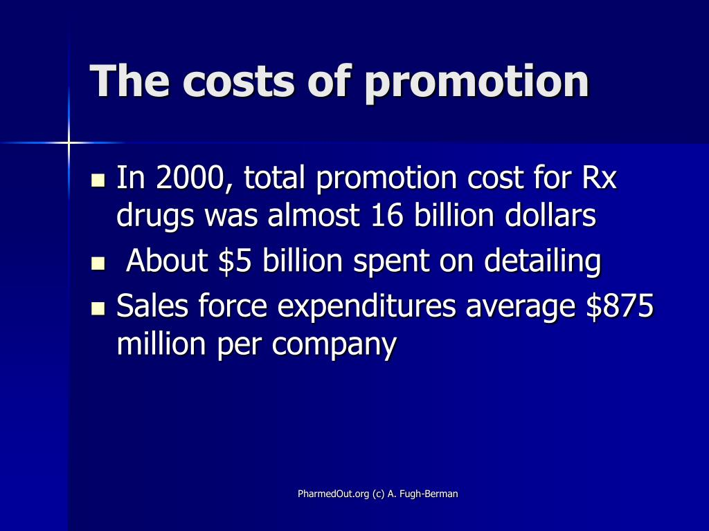 The costs of promotion