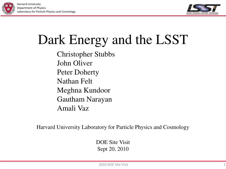 dark energy and the lsst n.