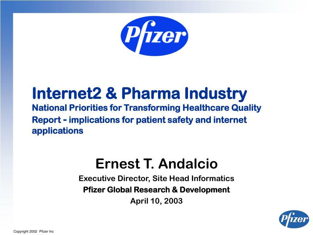 Internet2 & Pharma Industry