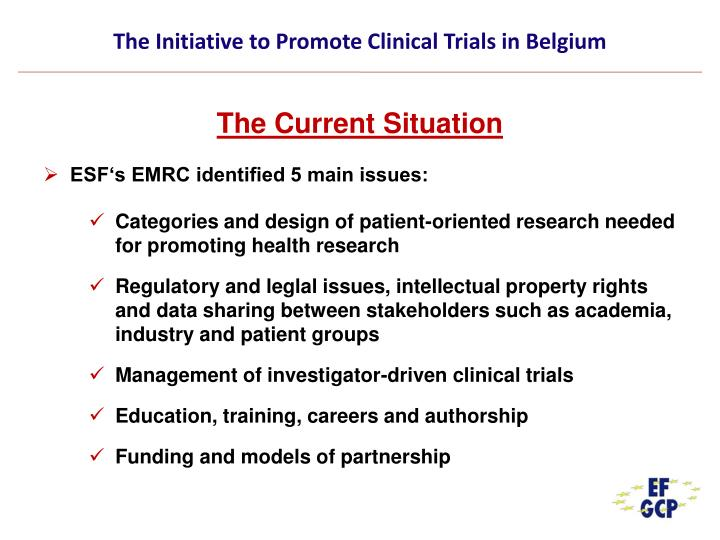 The initiative to promote clinical trials in belgium3