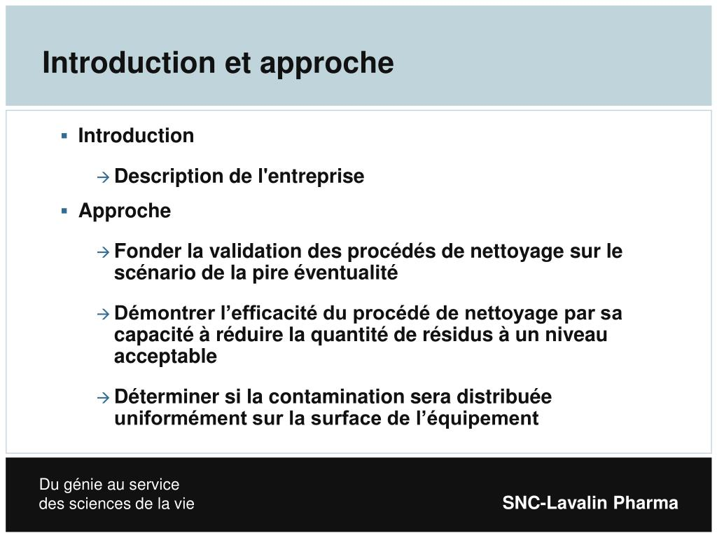 Introduction et approche