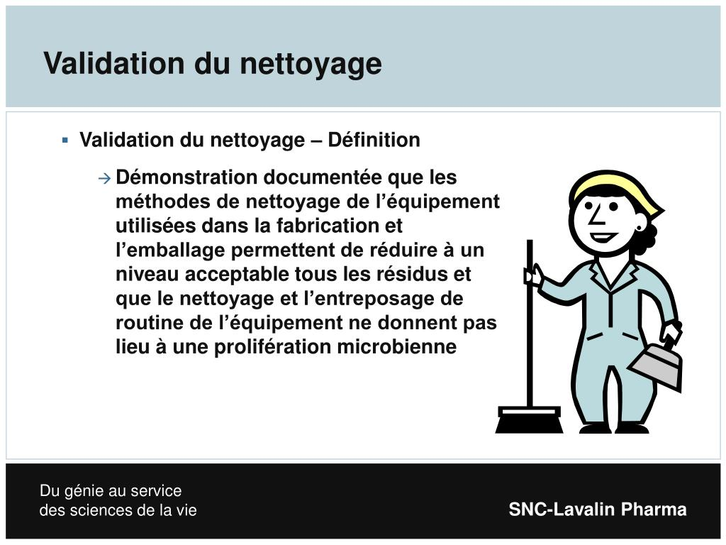 Validation du nettoyage