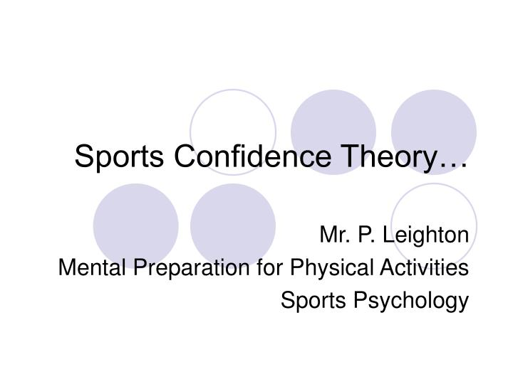 sports confidence theory n.