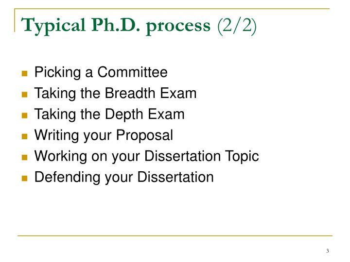 Typical ph d process 2 2