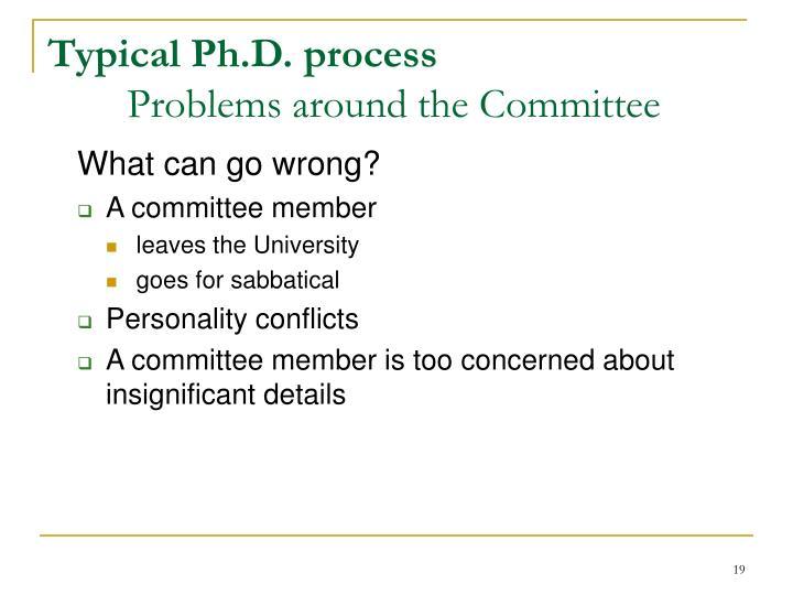 Typical Ph.D. process
