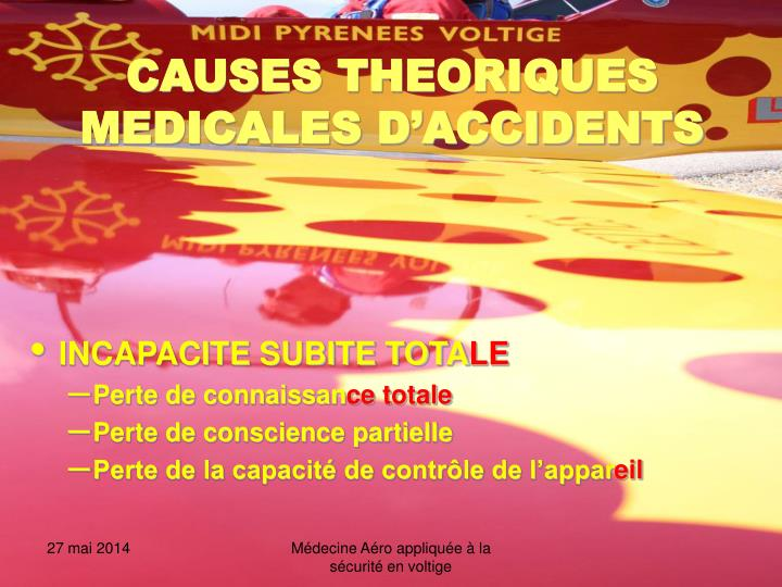 Causes theoriques medicales d accidents