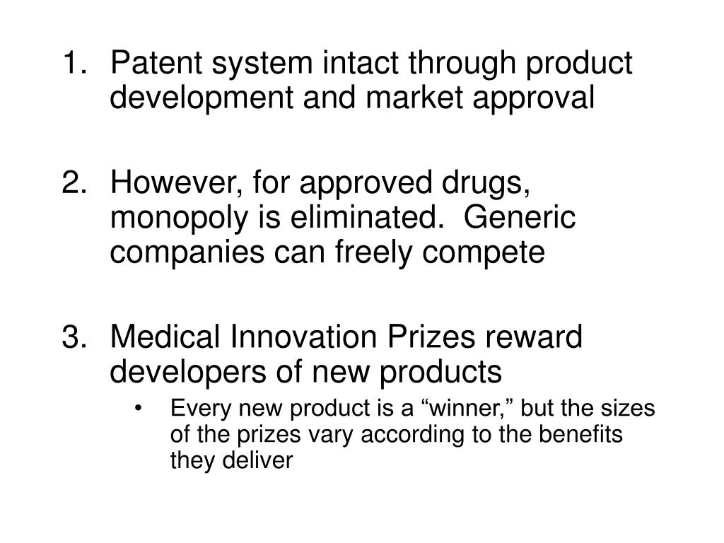 Patent system intact through product development and market approval