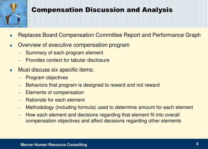 Compensation Discussion and Analysis