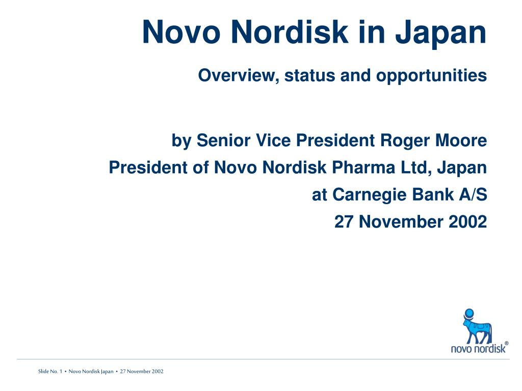 novo nordisk in japan overview status and opportunities l.