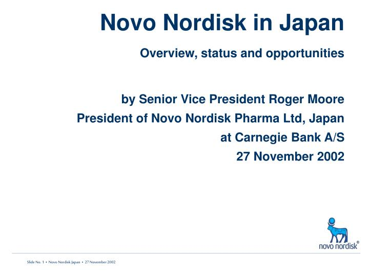 novo nordisk in japan overview status and opportunities n.