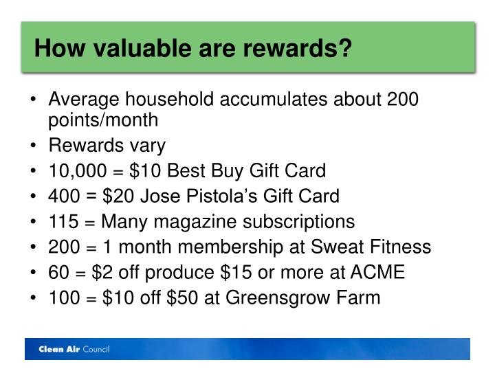 How valuable are rewards?