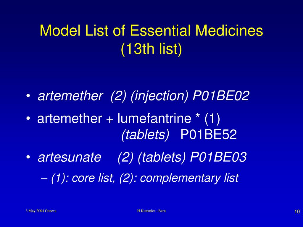Model List of Essential Medicines