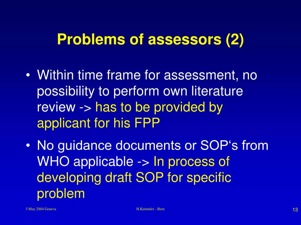 Problems of assessors (2)