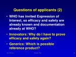questions of applicants 2