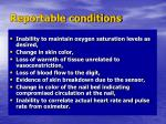 reportable conditions