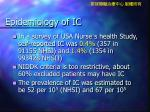 epidemiology of ic