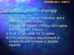 inravesical heparin therapy