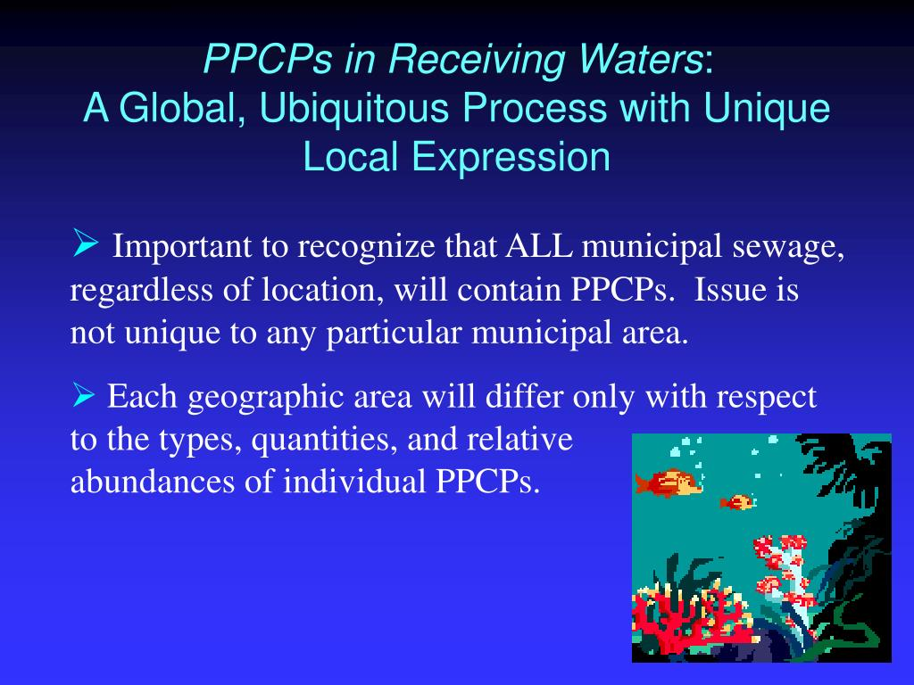 PPCPs in Receiving Waters