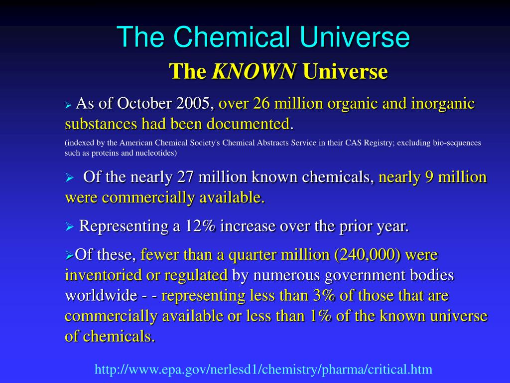 The Chemical Universe