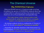 the chemical universe19