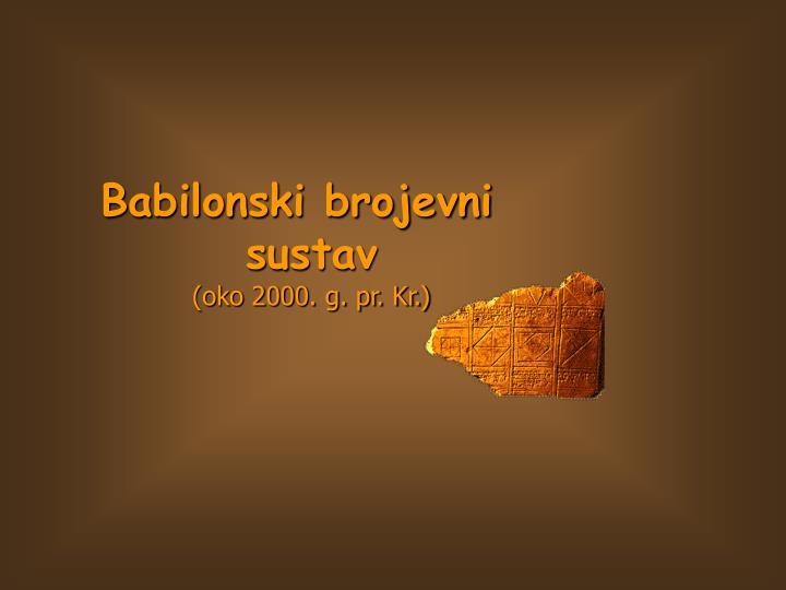 Babilonski brojevni sustav