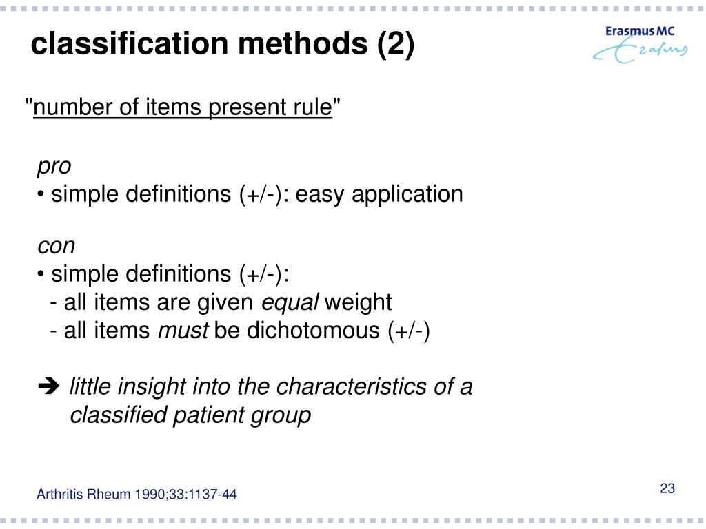 classification methods (2)
