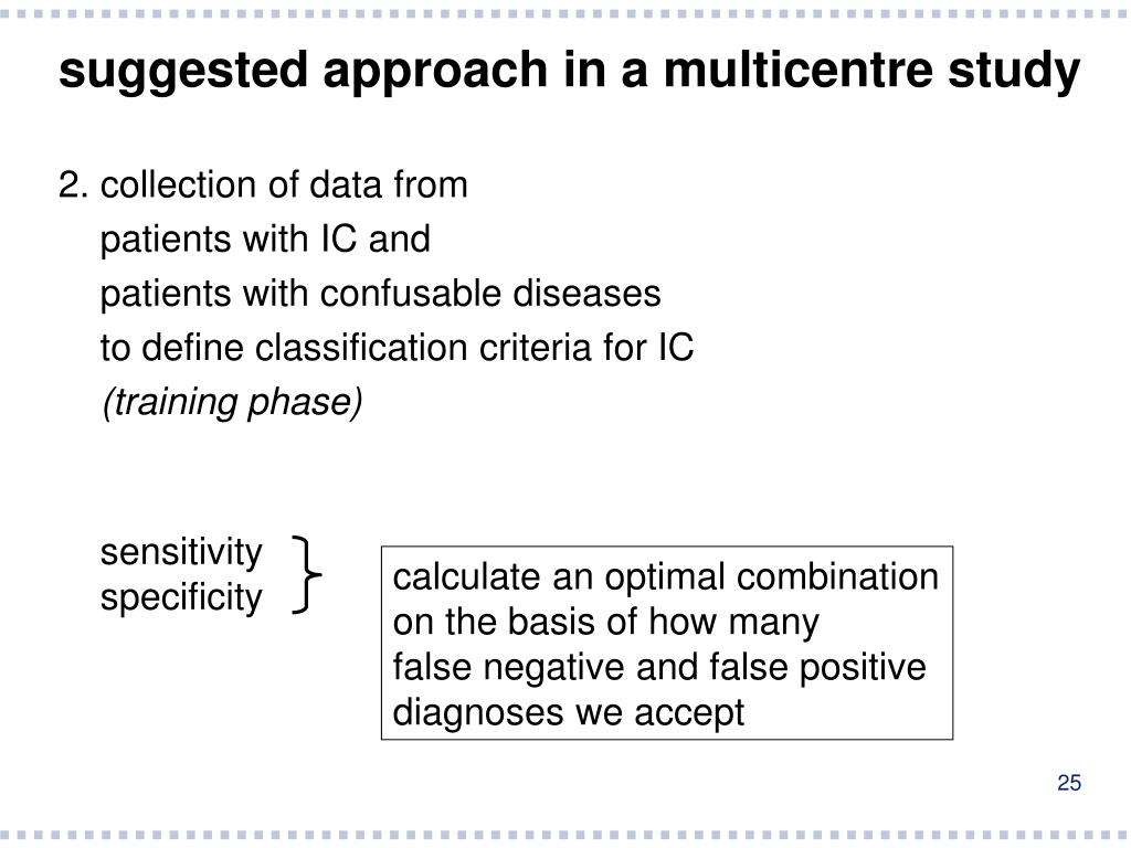 suggested approach in a multicentre study