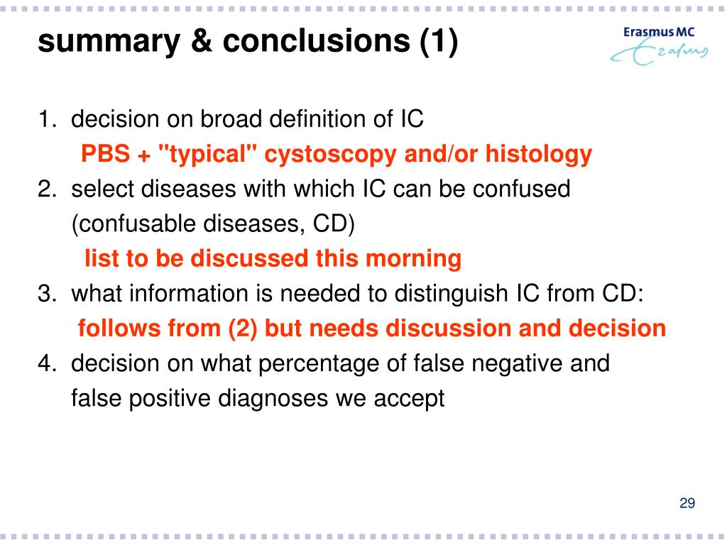 summary & conclusions (1)