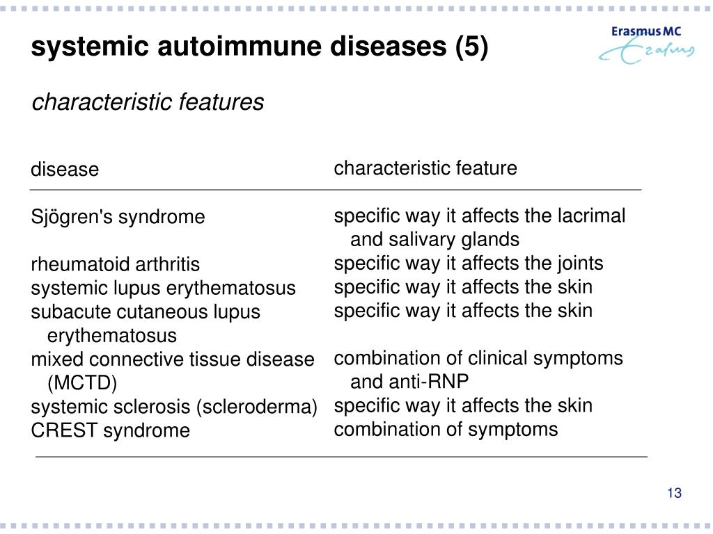 systemic autoimmune diseases (5)