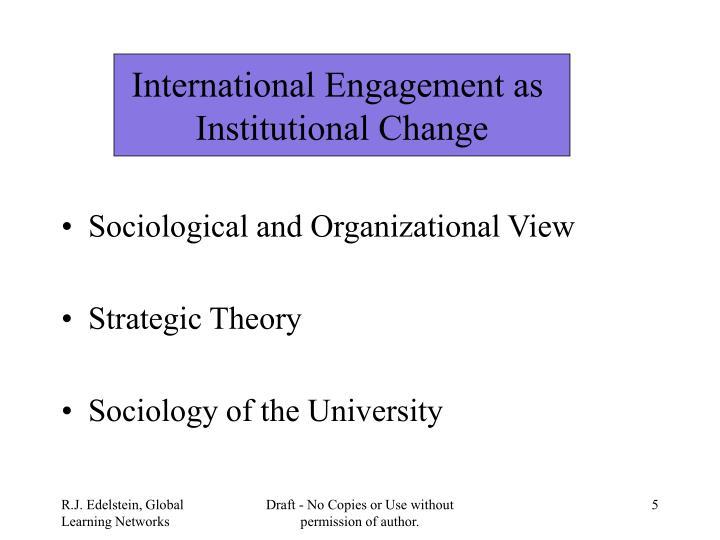 International Engagement as