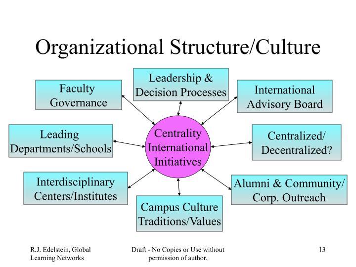 Organizational Structure/Culture