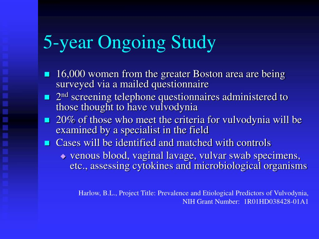 5-year Ongoing Study