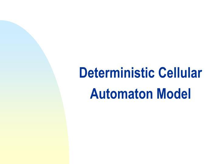 Deterministic Cellular Automaton Model