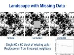 landscape with missing data