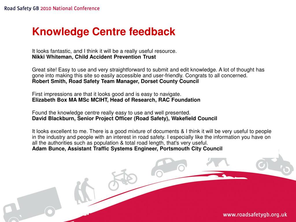 Knowledge Centre feedback