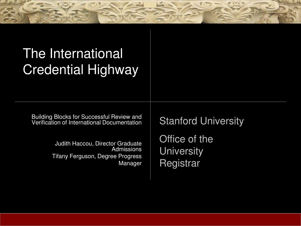 the international credential highway l.