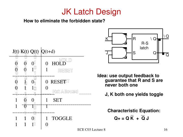JK Latch Design