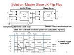 solution master slave jk flip flop