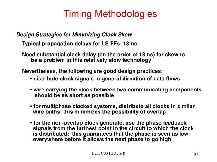 Timing Methodologies